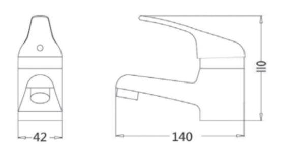 Armatura za umivalnik z zgornjim delom sifona - New Rosa