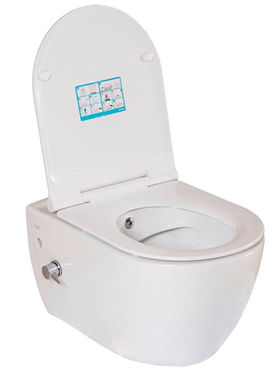 Keramična WC školjka z desko + bide City