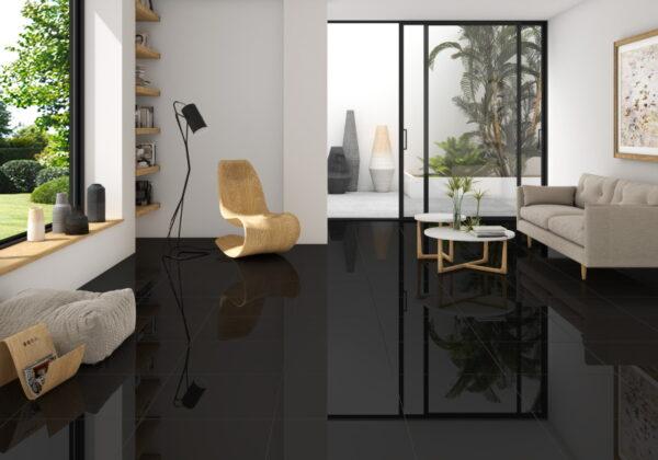 Keramična ploščica Shine - ambient - black