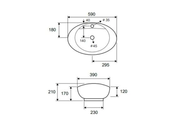 Keramični umivalnik LT 3073