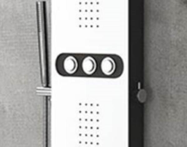 Masažna tuš kolona na tipke Bianco Nero Touch
