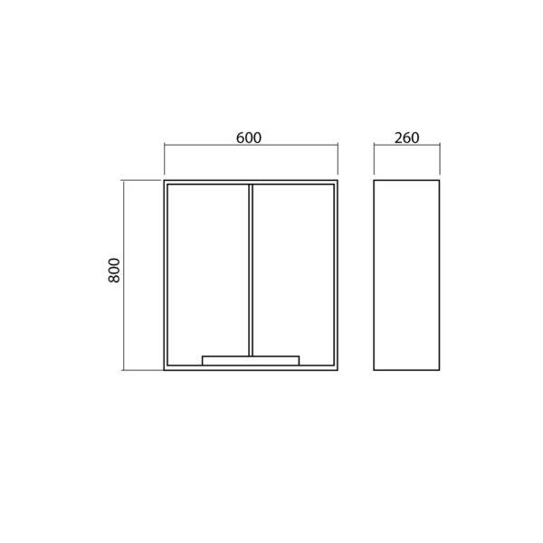 Stenska omarica za kopalnico - Quadro
