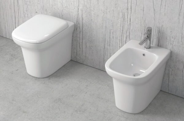 Talna bela keramična WC školjka z desko - Grace