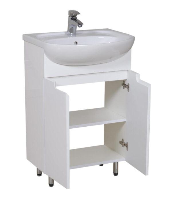 Talna keramična kopalniška omarica z umivalnikom - Quadro