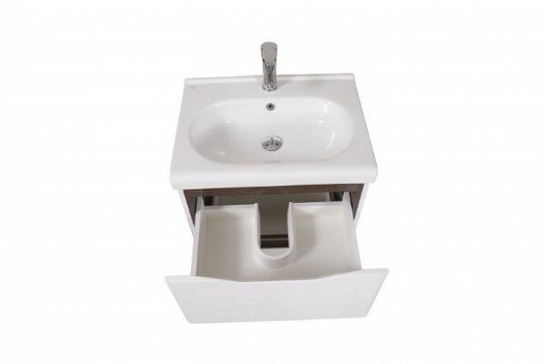 Talna kopalniška omarica z keramičnim umivalnikom Venice 60