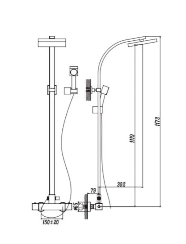 Termostatska tuš kolona 67A15