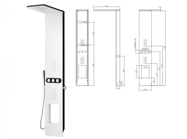 Tus kolona Bianco Nero Touch 2
