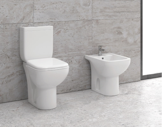 WC školjka s kotličkom ter desko - Square