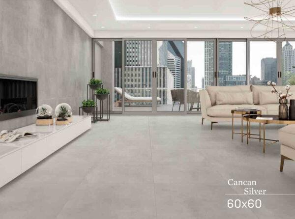 Keramična ploščica Cancan srebrna 600x600