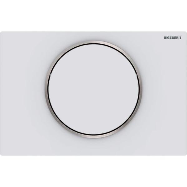 "Aktivirna tipka Geberit Sigma10, za start/stop splakovanje, mat bela/polirana/mat bela, lakirana s slojem ""easy-to-clean"""