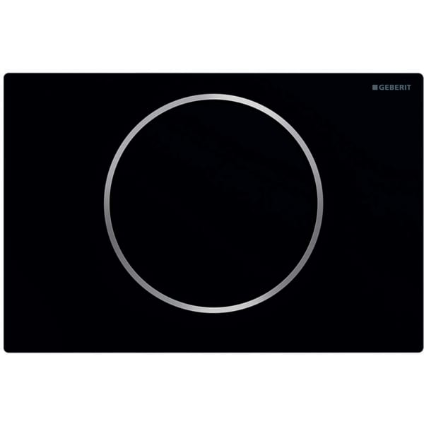 """Aktivirna tipka Geberit Sigma10, za start/stop splakovanje, mat črna/polirana/mat črna lakirana s slojem """"easy-to-clean"""""""