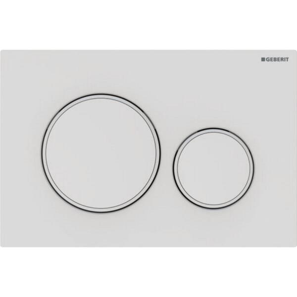 Aktivirna tipka Geberit Sigma20, za dvokoličinsko splakovanje, mat bela/bela/mat bela