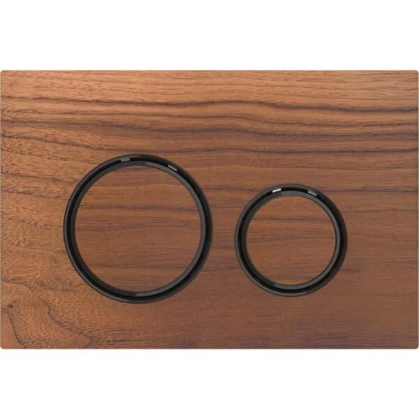 Aktivirna tipka Geberit Sigma21, za dvokoličinsko splakovanje, kovinska barva, črni krom, ameriški oreh