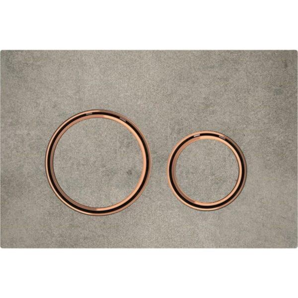 Aktivirna tipka Geberit Sigma21, za dvokoličinsko splakovanje, kovinska barva, rdeče zlato, videz betona