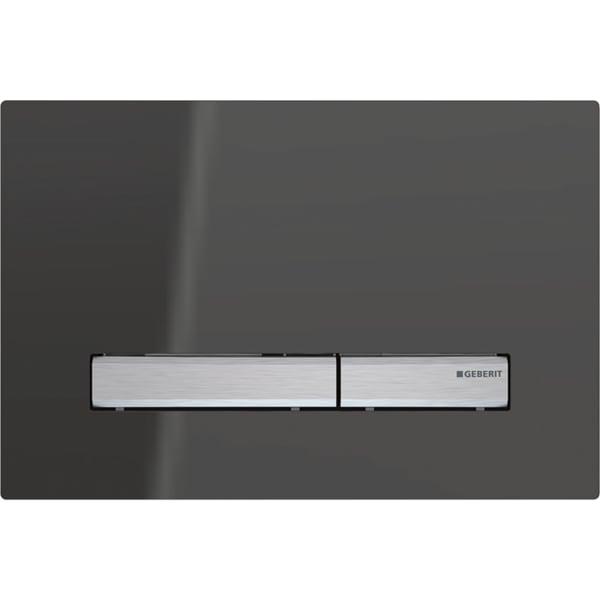 Aktivirna tipka Geberit Sigma50, za dvokoličinsko splakovanje, kovinska barva, kromirana, neprosojno zrcalno steklo