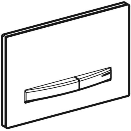 Aktivirna tipka Geberit Sigma50, za dvokoličinsko splakovanje, kovinska barva, kromirana