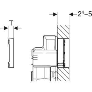 Aktivirna tipka Geberit Sigma60, za dvokoličinsko splakovanje, površinsko izravnana