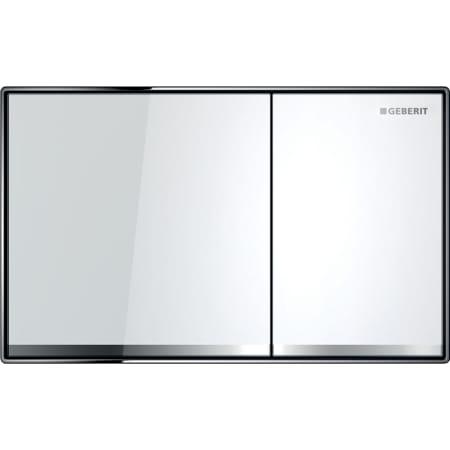 Aktivirna tipka Geberit Sigma60, za dvokoličinsko splakovanje, površinsko izravnana, belo steklo