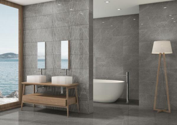 Stenska keramična ploščica Altamura Gray 300x900