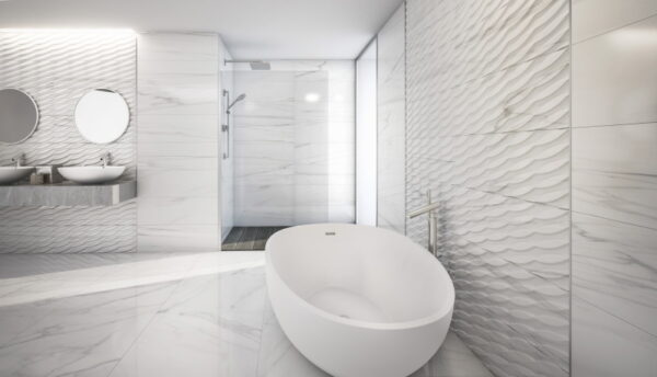 Dekorativna stenska keramična ploščica Varena Carrara 300x900