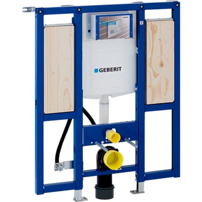 Element Geberit Duofix za stensko WC školjko, 112 cm, s podometnim splakovalnikom Sigma 12 cm, za gibalno ovirane osebe, za opore in držala