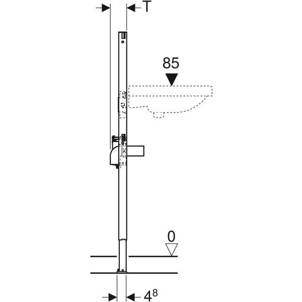 Element Geberit Duofix za umivalnik 112 cm elektronska stojeca armatura s podometno funkcijsko skatlo 3