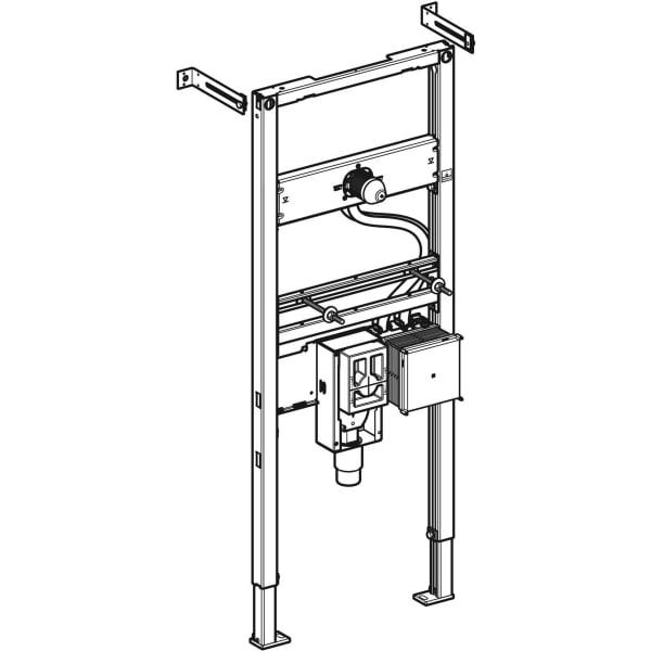 Element Geberit Duofix za umivalnik 130 cm elektronska stenska armatura s podometno funkcijsko skatlo s podometnim sifonom 1