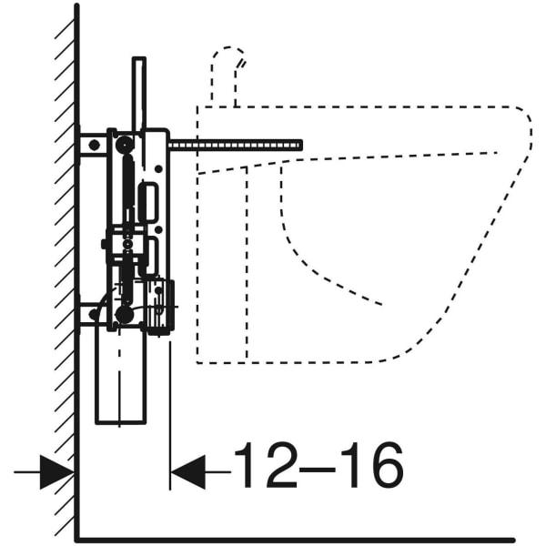 Element Geberit Kombifix za bide univerzalni 3