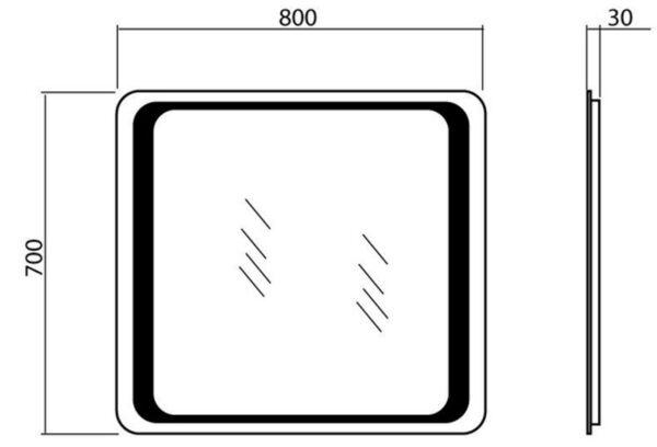 Kopalniško ogledalo Omega 80 LED
