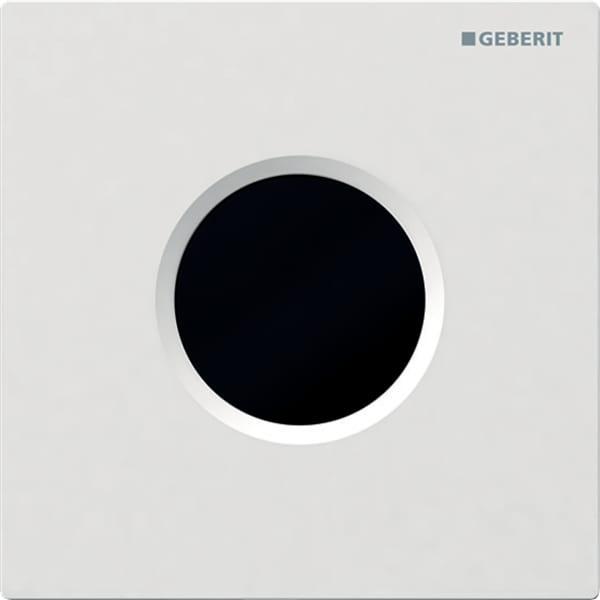Krmiljenje Geberit za pisoar z elektronskim aktiviranjem splakovanja delovanje na baterije pokrivna plosca Tip01 alpsko bela