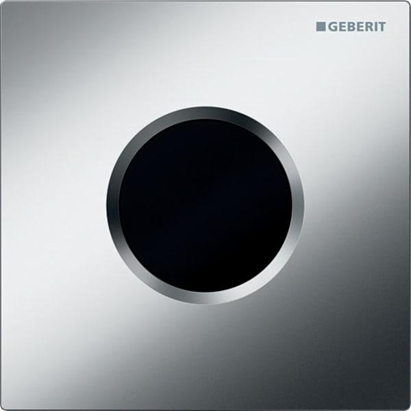 Krmiljenje Geberit za pisoar z elektronskim aktiviranjem splakovanja delovanje na baterije pokrivna plosca Tip01 mat krom
