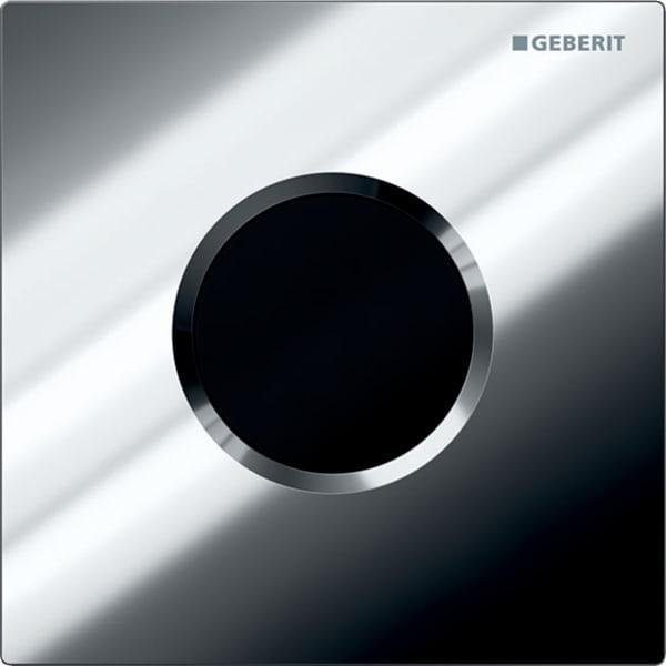 Krmiljenje Geberit za pisoar z elektronskim aktiviranjem splakovanja delovanje na baterije pokrivna plosca Tip01 sijajni krom