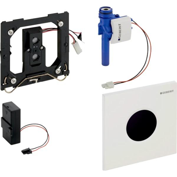 Krmiljenje Geberit za pisoar z elektronskim aktiviranjem splakovanja delovanje na baterije pokrivna plosca Tip01