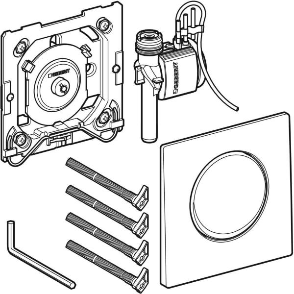 Krmiljenje Geberit za pisoarje s pnevmatskim aktiviranjem splakovanja aktivirna tipka Mambo 1