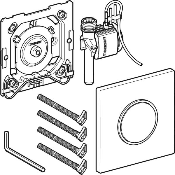 Krmiljenje Geberit za pisoarje s pnevmatskim aktiviranjem splakovanja aktivirna tipka Tip10 1