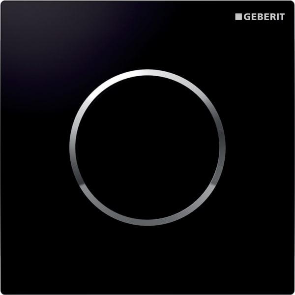 Krmiljenje Geberit za pisoarje s pnevmatskim aktiviranjem splakovanja aktivirna tipka Tip10 crna sijajni krom crna