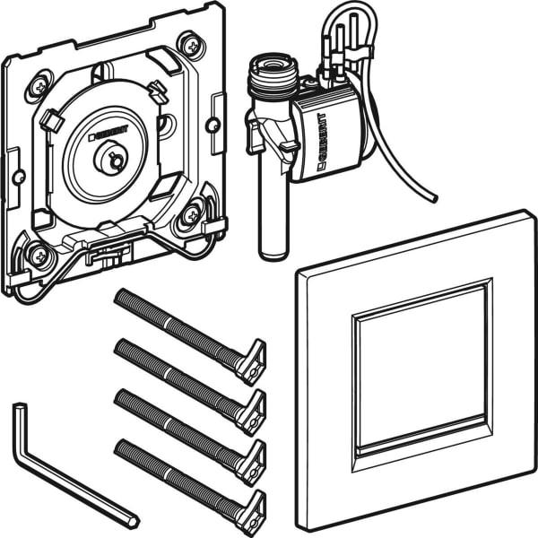 Krmiljenje Geberit za pisoarje s pnevmatskim aktiviranjem splakovanja aktivirna tipka Tip30 1