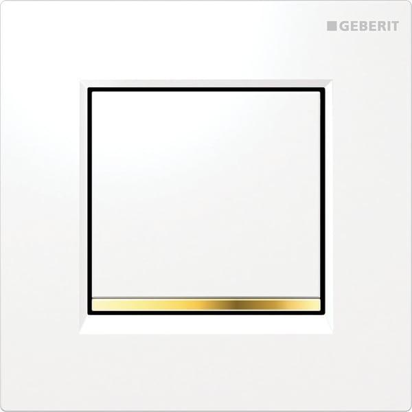 Krmiljenje Geberit za pisoarje s pnevmatskim aktiviranjem splakovanja aktivirna tipka Tip30 bela pozlacena bela