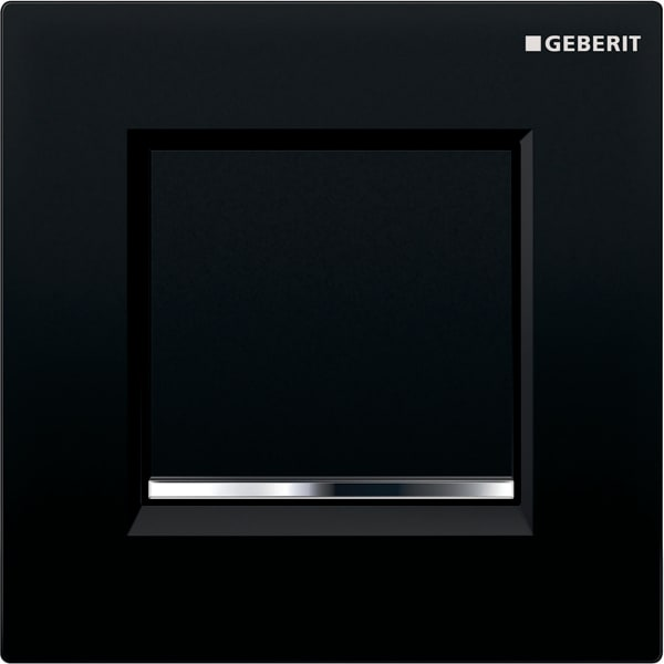 Krmiljenje Geberit za pisoarje s pnevmatskim aktiviranjem splakovanja aktivirna tipka Tip30 crna sijajni krom crna