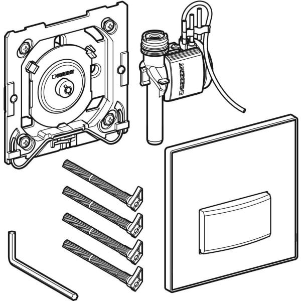 Krmiljenje Geberit za pisoarje s pnevmatskim aktiviranjem splakovanja aktivirna tipka Tip50 1