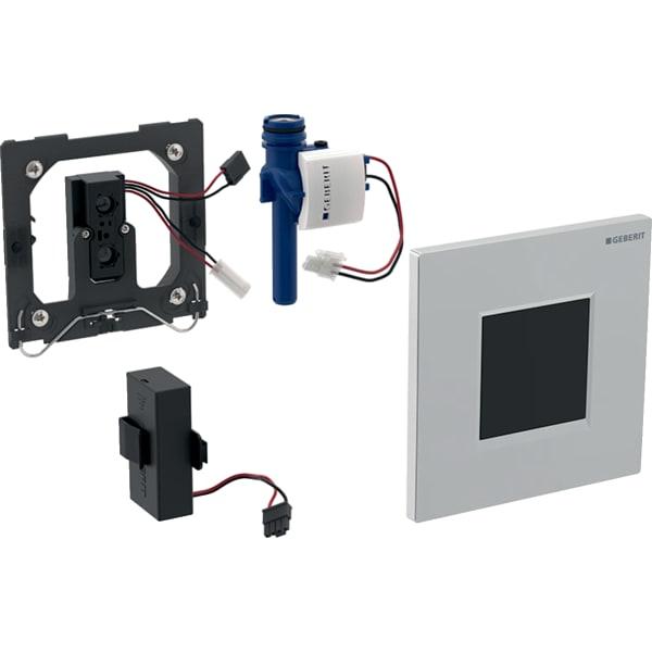 Krmiljenje Geberit za pisoarje z elektronskim aktiviranjem splakovanja delovanje na baterije pokrivna plosca Tip30