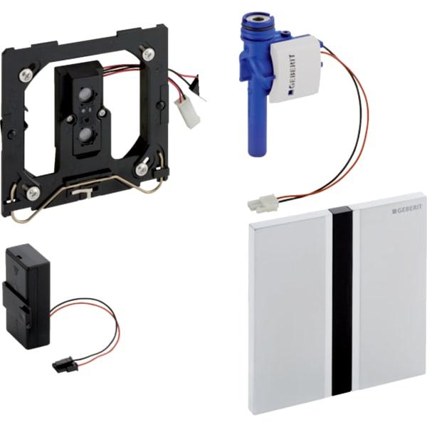 Krmiljenje Geberit za pisoarje z elektronskim aktiviranjem splakovanja delovanje na baterije pokrivna plosca Tip50