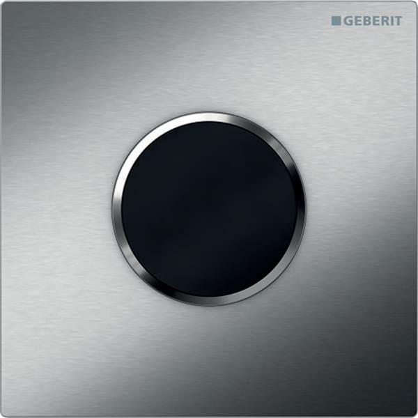 Krmiljenje Geberit za pisoarje z elektronskim aktiviranjem splakovanja delovanje na baterije pokrivna plosca tip 10 polirano scetkano
