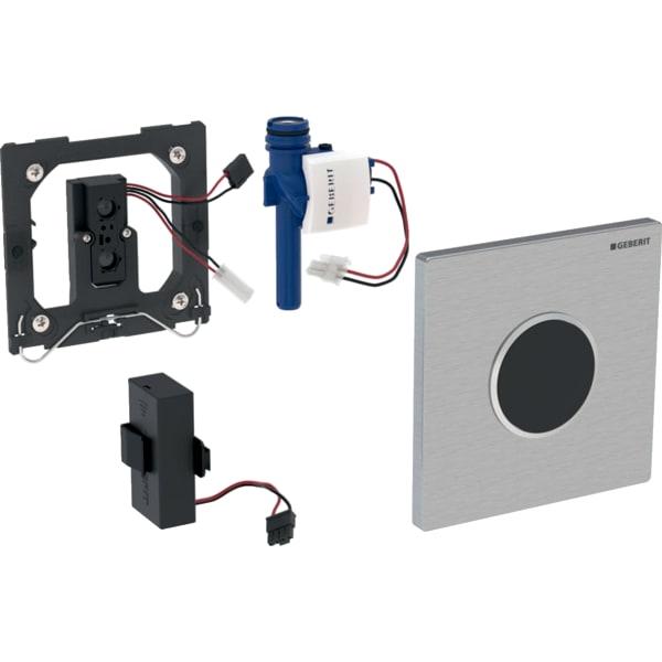 Krmiljenje Geberit za pisoarje z elektronskim aktiviranjem splakovanja delovanje na baterije pokrivna plosca tip 10