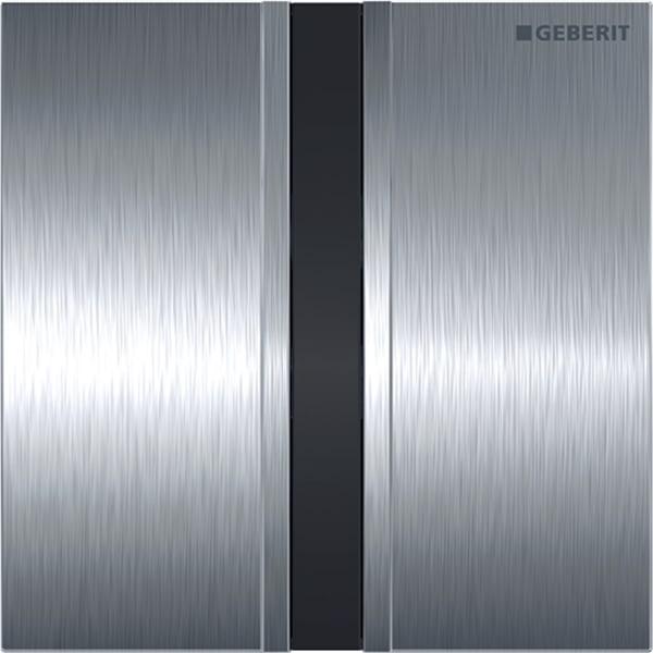 Krmiljenje Geberit za pisoarje z elektronskim aktiviranjem splakovanja delovanje na baterije pokrivna plosca tip 50 scetkan krom