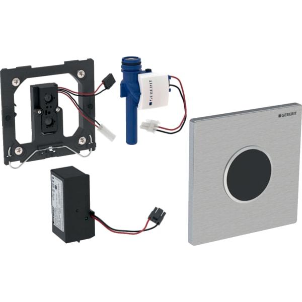 Krmiljenje Geberit za pisoarje z elektronskim aktiviranjem splakovanja omrezno delovanje pokrivna plosca Tip10