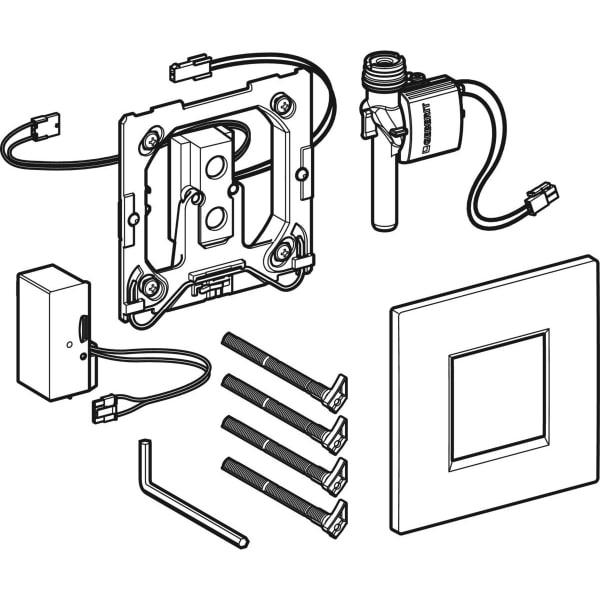 Krmiljenje Geberit za pisoarje z elektronskim aktiviranjem splakovanja omrezno delovanje pokrivna plosca Tip30 1