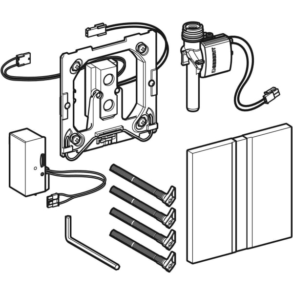 Krmiljenje Geberit za pisoarje z elektronskim aktiviranjem splakovanja omrezno delovanje pokrivna plosca Tip50 1