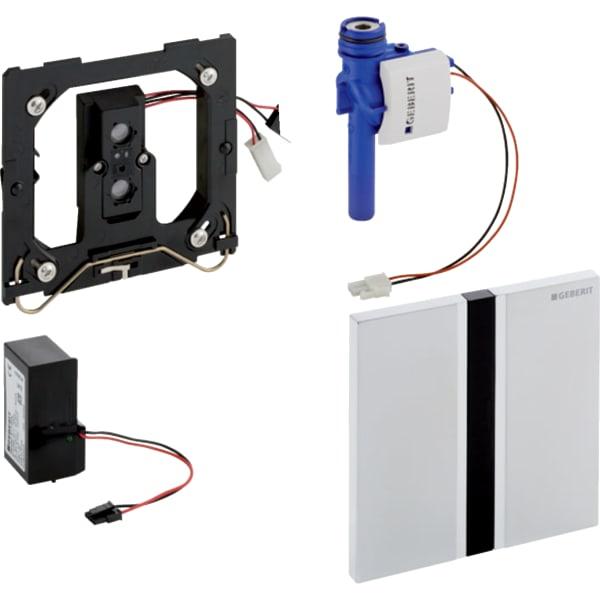Krmiljenje Geberit za pisoarje z elektronskim aktiviranjem splakovanja omrezno delovanje pokrivna plosca Tip50