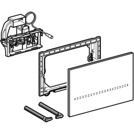 Krmiljenje WC ja z elektronskim aktiviranjem splakovanja Geberit omrezno delovanje dvokolicinsko splakovanje aktivirna tipka Sigma80 brez dotika Sigma 8 cm